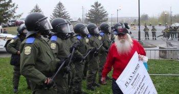 Manifestation contre le congrès du PLQ à Victoriaville, 4 mai 2012