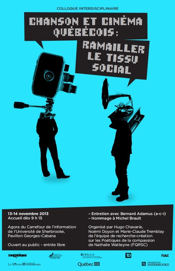 Affiche du colloque «Ramailler le tissu social».