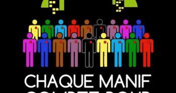 Chaque manif compte pour la lutte (Détrournement d'une affiche de la STM par Moïse Marcoux-Chabot)