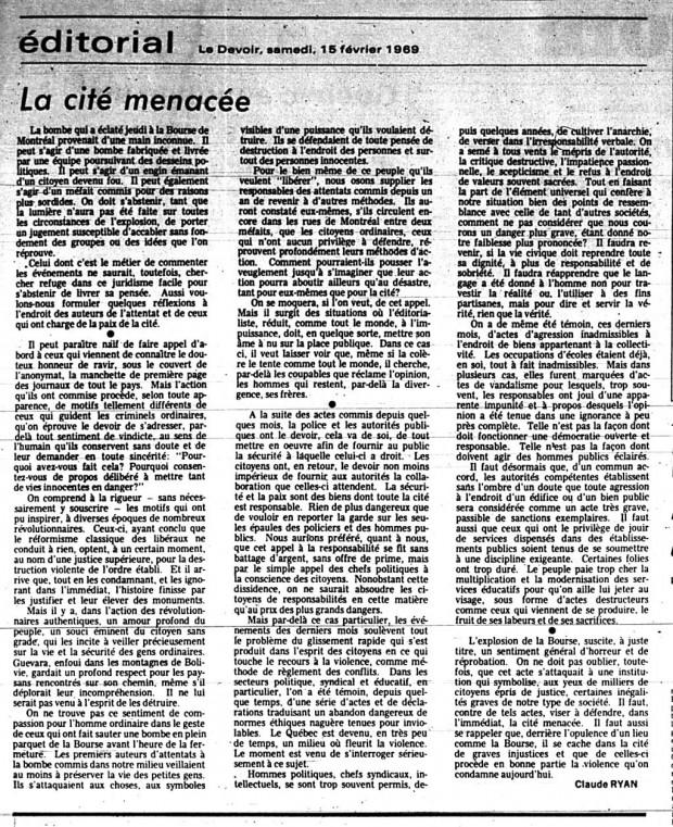 ledevoir-15-fevrier-1969-editorial