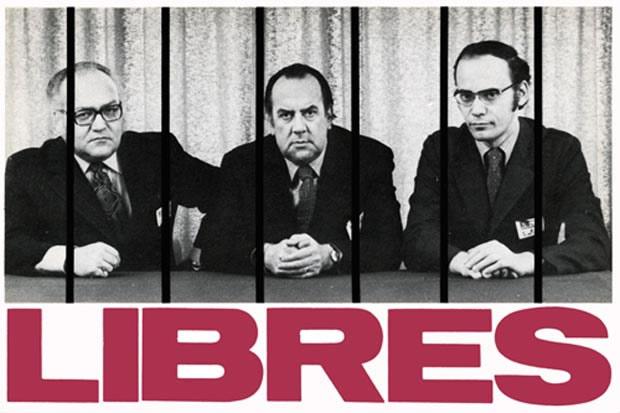Marcel Pepin (CSN), Louis Laberge (FTQ) et Yvon Charbonneau (CEQ)